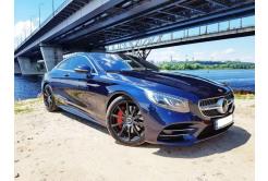 авто бизнес класса Mercedes-Benz S Coupe синий BrqL