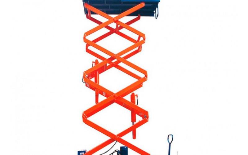 Ножничный подъёмник SJY 0.3-11 раб. высота 13м 27rl