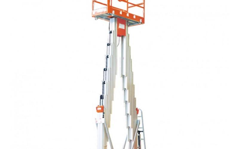 Алюминиевый двухмачтовый подъёмник раб. высота 14м l4e2