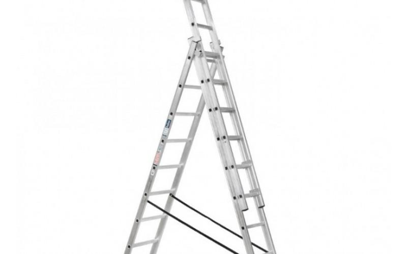 Лестницы универсальные трёхсекционные, высота от 4 до 8,5м 34ne