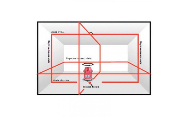 Нівелір лазерний AGP 195 Дальність 25м, точність ±1мм/7м 3Aeg
