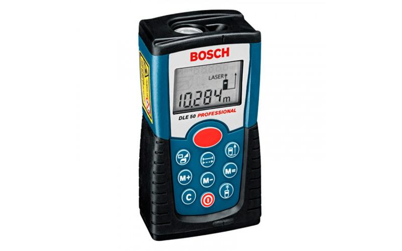 Дальномер лазерный Bosch DLE 50, Диапазон измерения: 0,05-50 м Точность измерения: +/- 1,5 мм 3Ko4