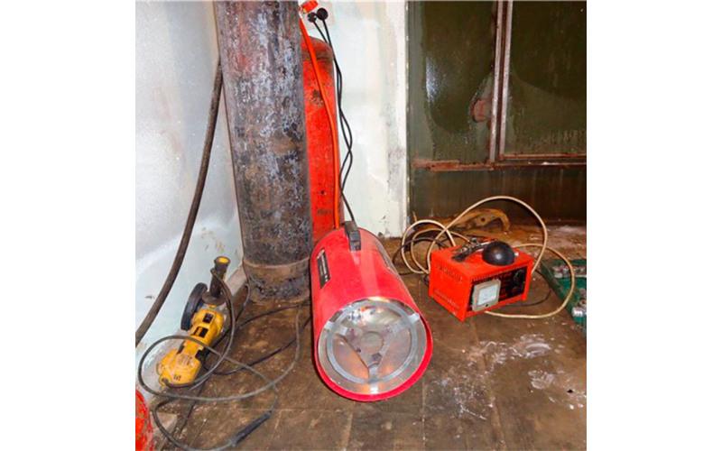 Газовый нагреватель Grunhelm 30кВт, 8кг lP0x