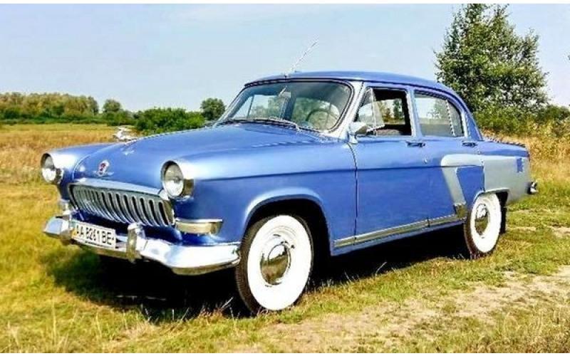 129 Ретро авто Volga GAZ 21 голубая rBgP